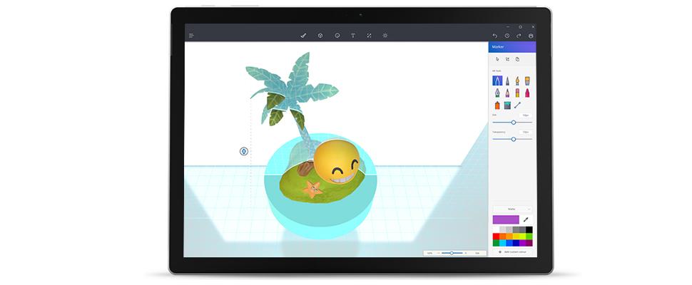 Paint 3d vervangt oude paint in windows 10 computer idee for Plattegrond maken op de computer
