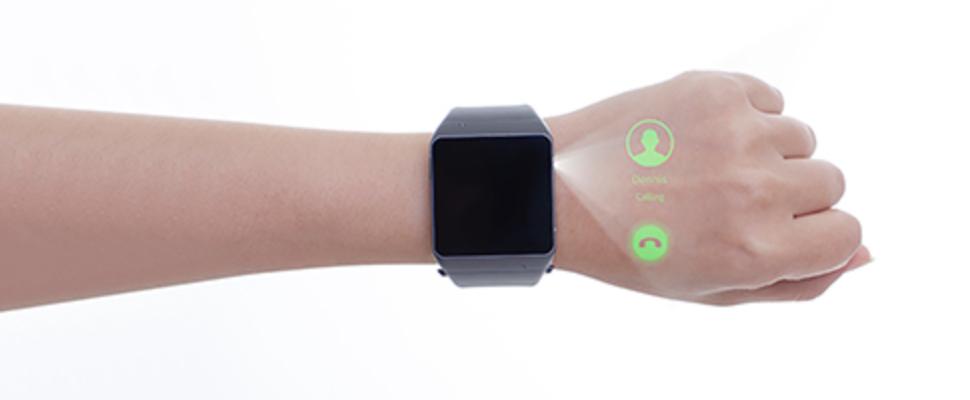 ASU Cast One is een smartwatch met ingebouwde beamer ...