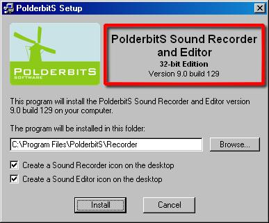 Polderbits sound recorder and editor activation code