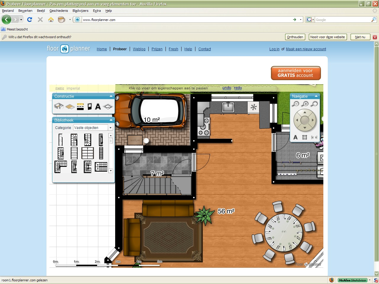 Floorplanner gratis downloaden computer idee for Floorplanner software