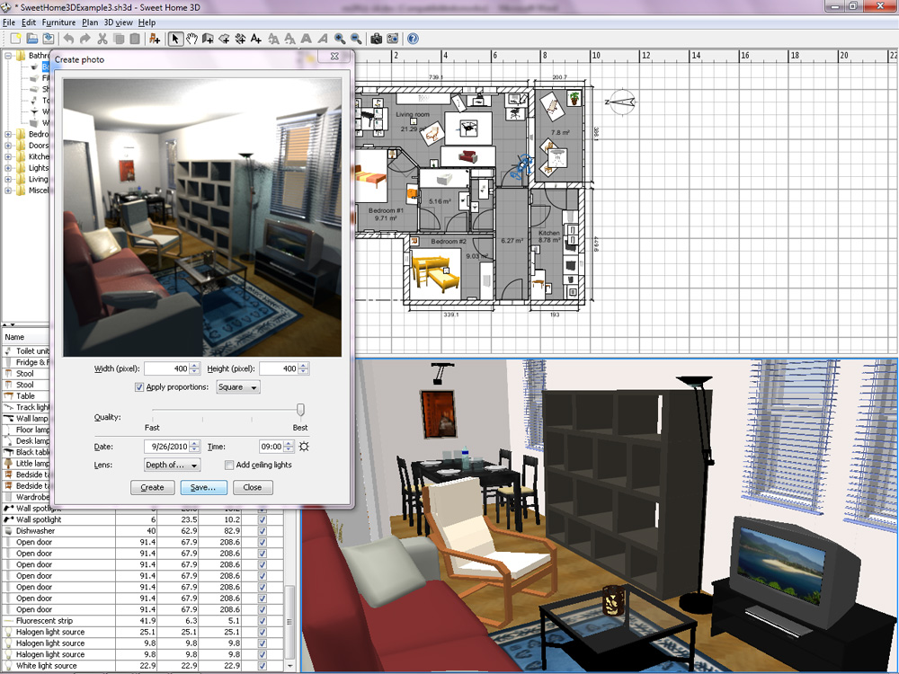 sweet home 3d gratis downloaden computer idee. Black Bedroom Furniture Sets. Home Design Ideas