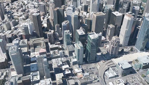 Google Earth 3D city