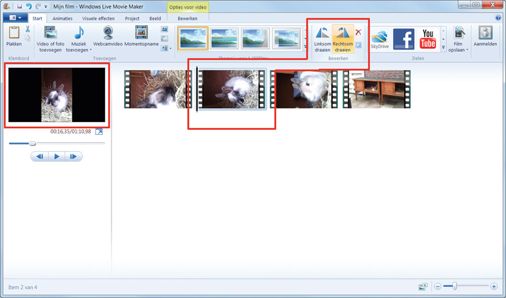 scherm draaien windows 10