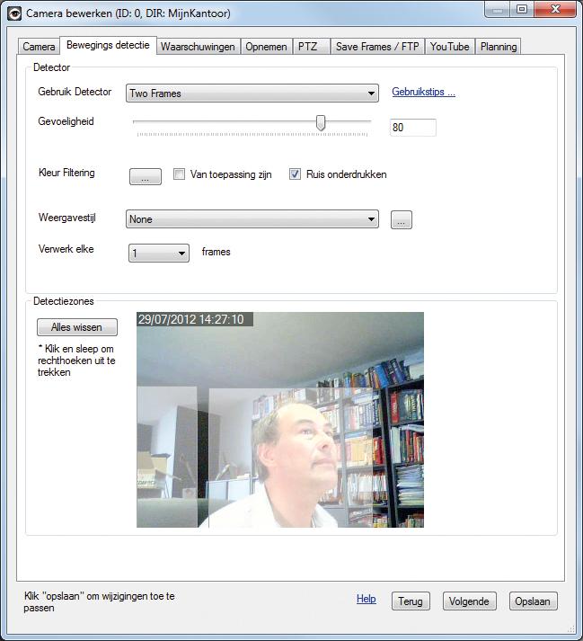 webcam als bewaker in 5 stappen computer idee. Black Bedroom Furniture Sets. Home Design Ideas