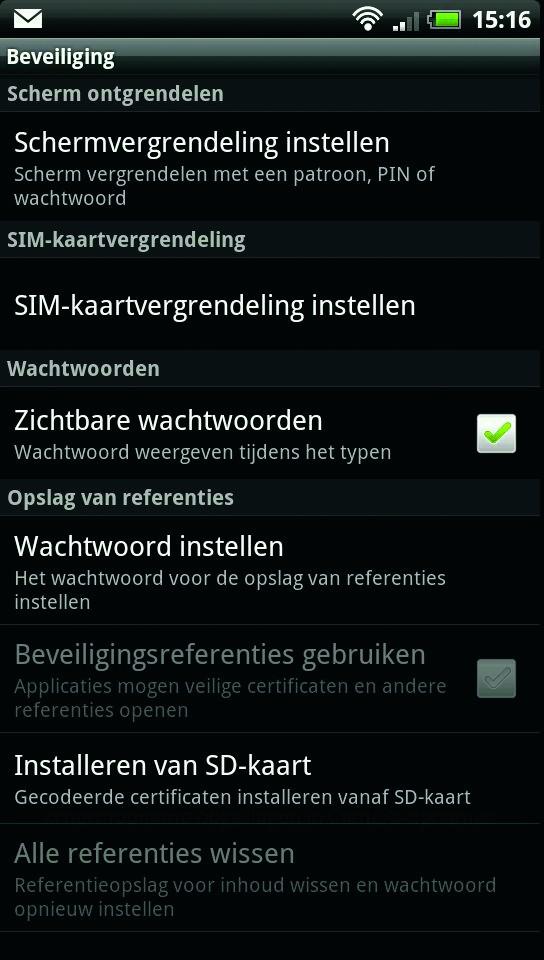 voer nieuw pincode iphone