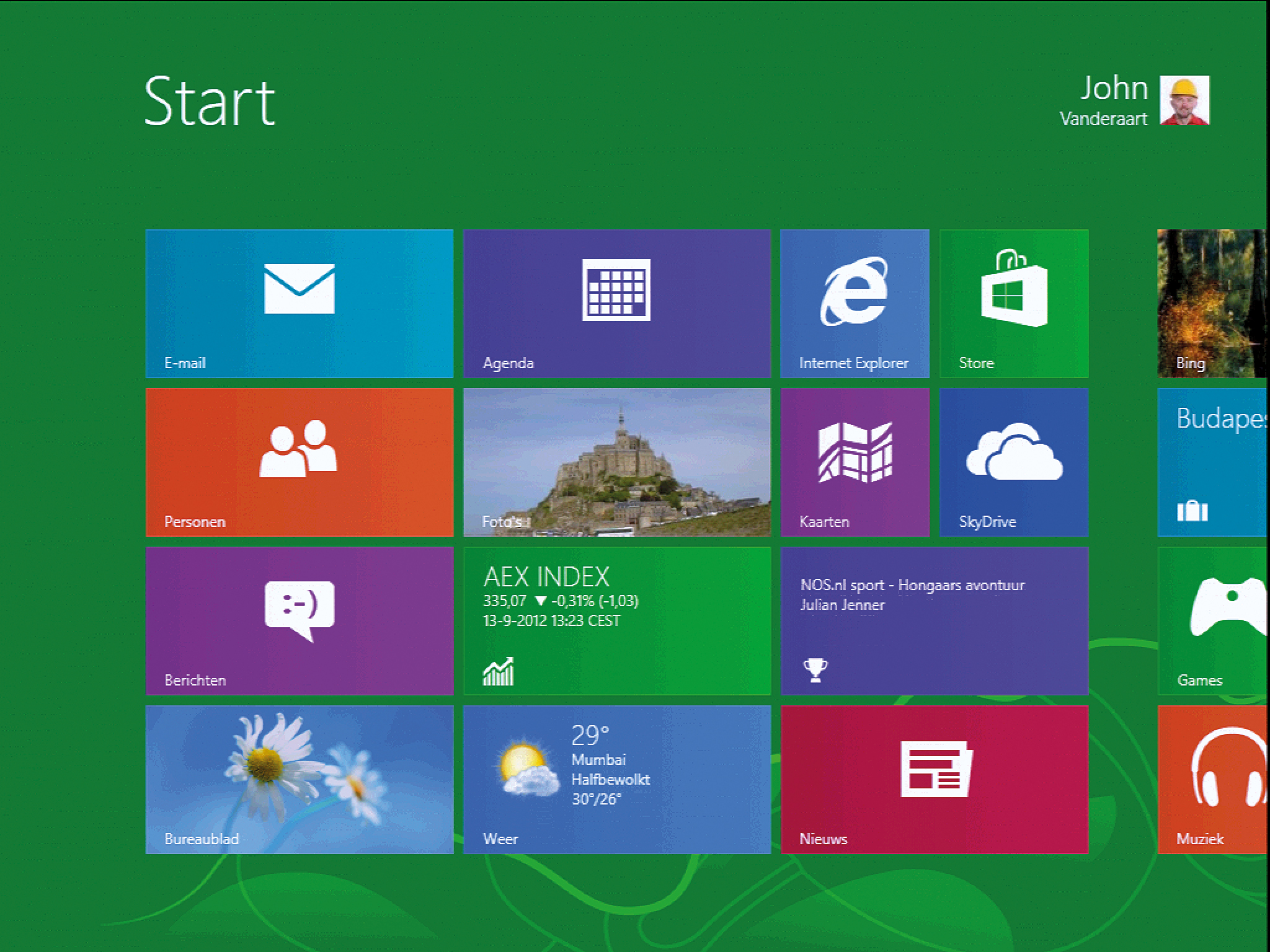 Windows 8 schoon installeren computer idee for Windows 8 bureaublad