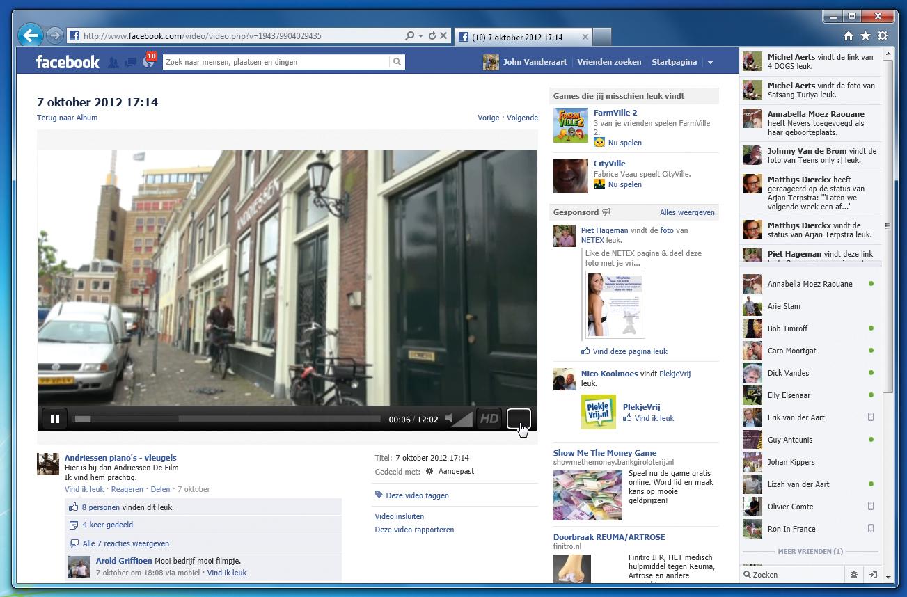 how to download facebook vide oto computer
