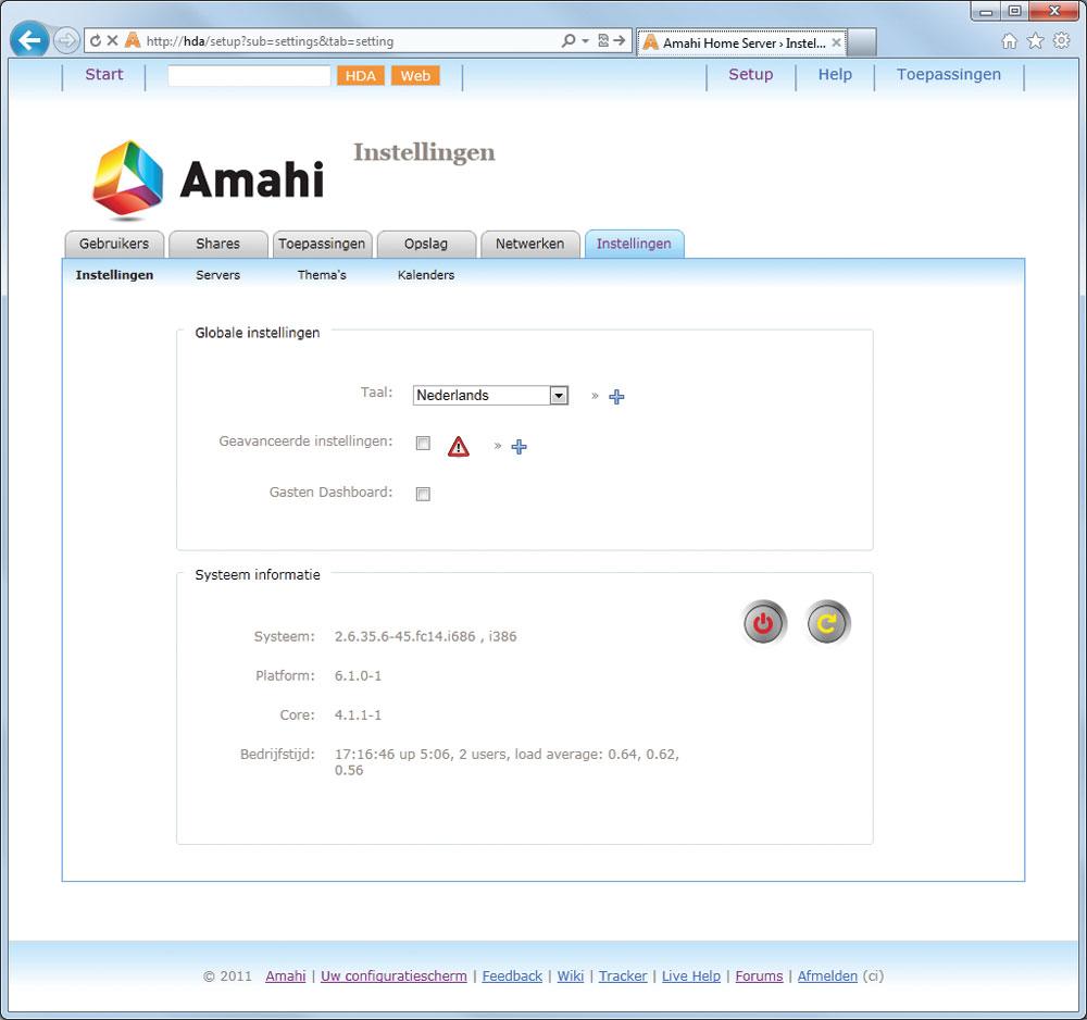 Amahi: Uw eigen server | Computer Idee
