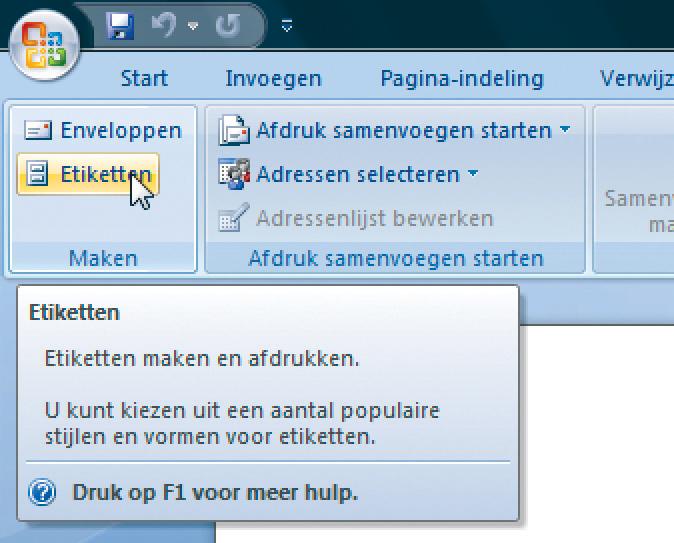 Etiketten Maken In Word 2007 Computer Idee