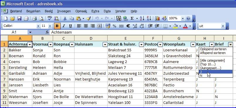 Excel formules met het plusteken