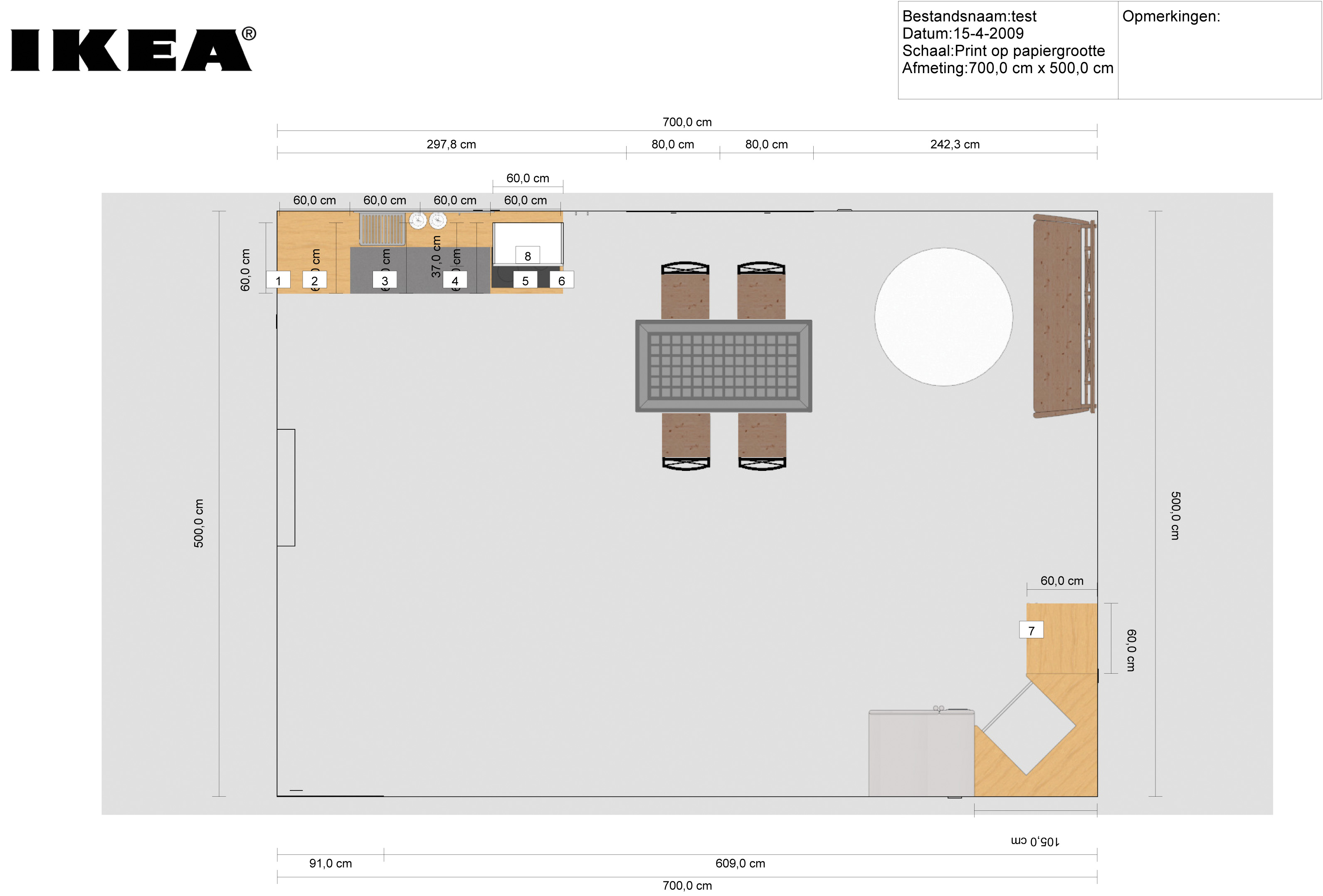 Nieuwe keuken ontwerp 39 m zelf computer idee for 3d keuken tekenprogramma