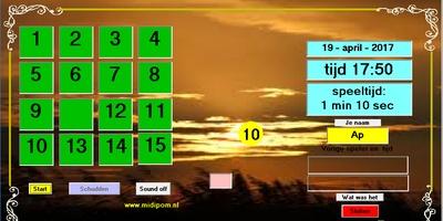 Schuifspel - De aloude 15-puzzel
