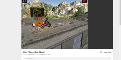 Moto Trials Junkyard 2 - Overwin elke hinderhis