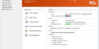 MailStore Home Free - Sla je cloudmail lokaal op