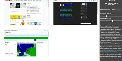 Janus Workspace - Bekijk meerdere websites tegelijk