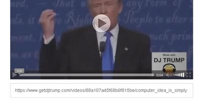 DJ Trump - laat de president van de VS jouw zinnen uitspreken