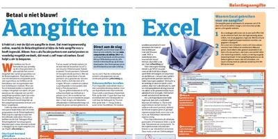 Download bij 'Aangifte in Excel', Computer Idee 7, 2017 - Nieuwe versie 31-03-2017