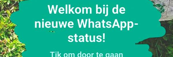 WhatsApp heeft nu ook een stories-functie