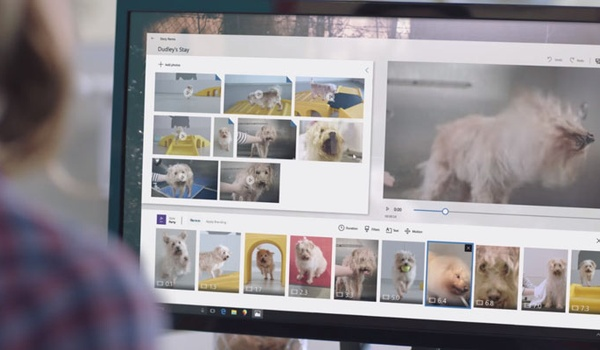 Story Remix is opvolger van Windows Movie Maker