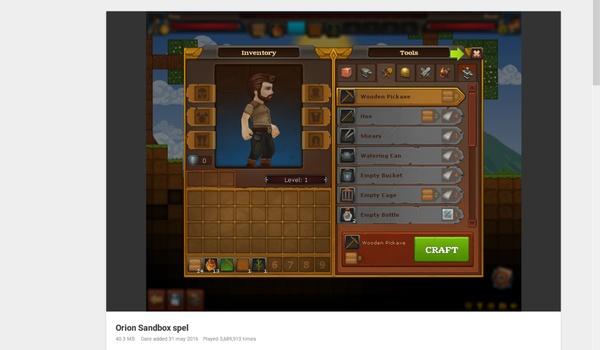 Orion Sandbox - Minecraft in 2D