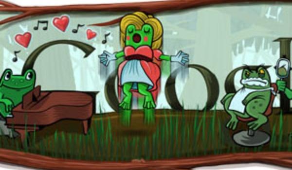 Rossini Google Doodle met kikkers
