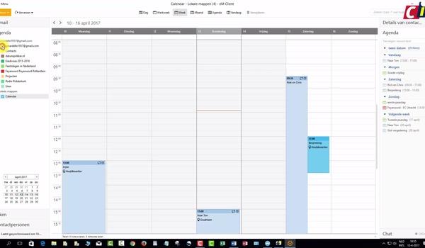 Afspraken maken in eM Client