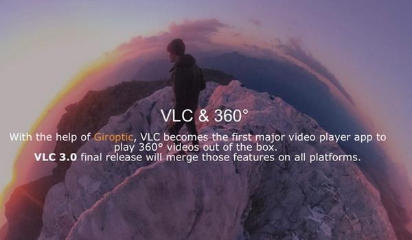 Virtual reality-filmpjes af te spelen in VLC