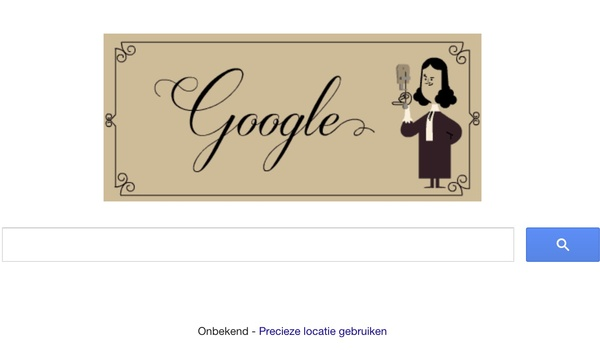 Antoni van Leeuwenhoek herdacht door Google
