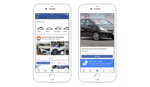 Auto (ver)kopen kan straks ook op Facebook