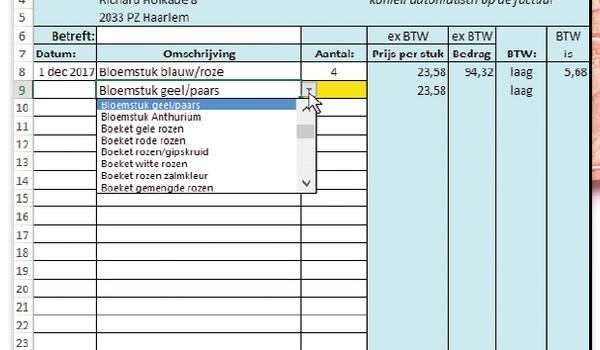 Factureren in Excel - Computer Idee 26