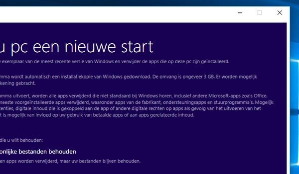 Weg met bloatware door schone installatie Windows 10