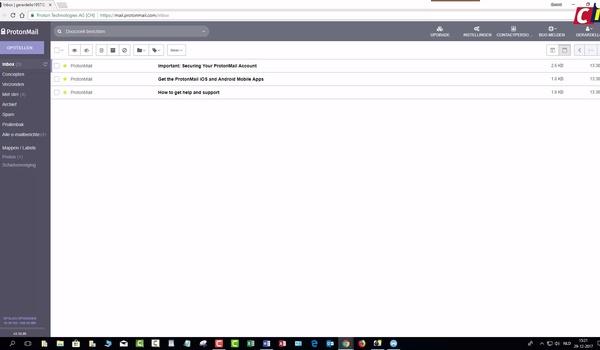ProtonMail: functies
