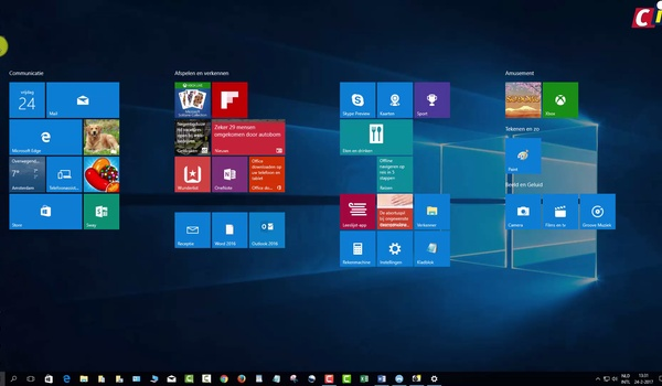 Startmenu in Windows 10