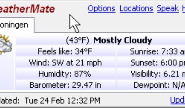 WeatherMate - Weer of geen weer, dit programma weet het