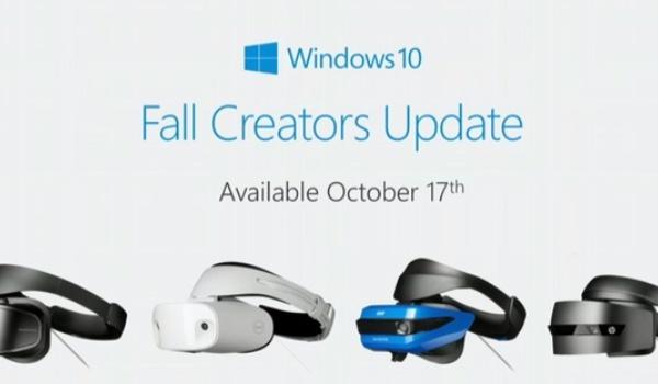 Windows 10 Fall Creators Update met Mixed Reality komt 17 oktober uit