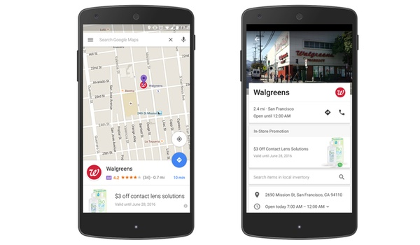 Advertenties sluipen Google Maps binnen