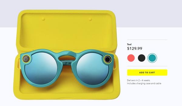 Snapchat verkoopt Spectacles nu ook online