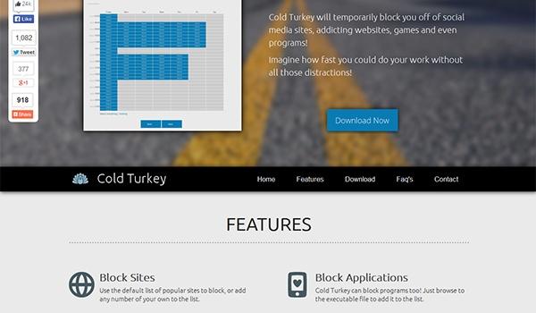 Website tijdelijk blokkeren met Cold Turkey
