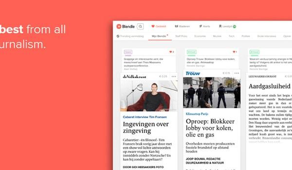 Krantenkiosk-app Blendle test maandabonnement