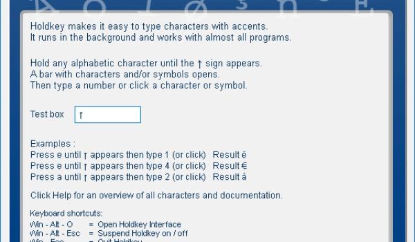 HoldKey - Typ gemakkelijk diakritische tekens