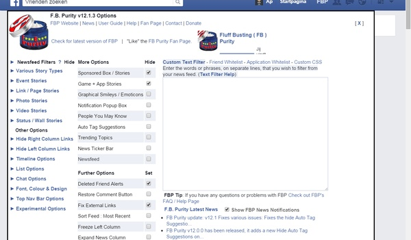 FB Purity - Verwijder de ballast van Facebook