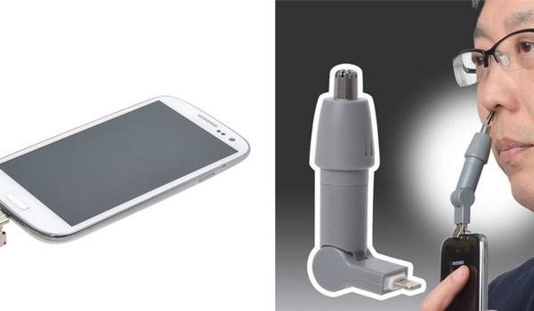 Neushaar-trimmer voor je smartphone