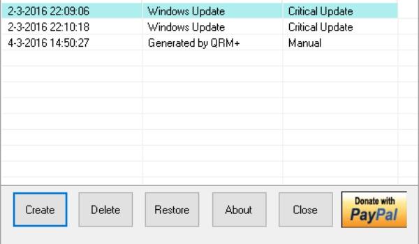 QRM Plus Manager - Maak en beheer gemakkelijk herstelpunten