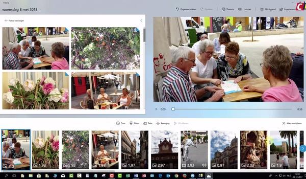 Fall Creators Update: video bewerken in Foto's