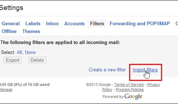 Filter gebruiken in Gmail