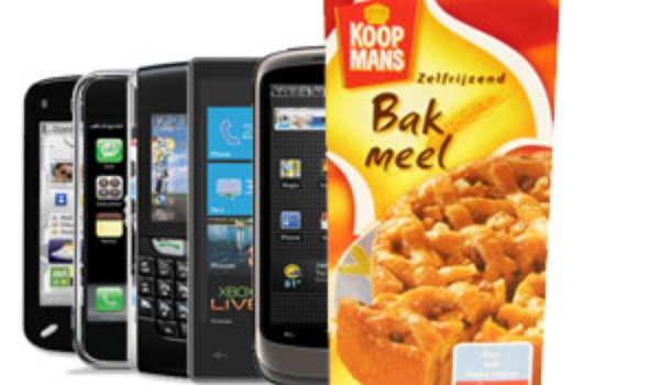 Smartphone besteld, bakmeel ontvangen