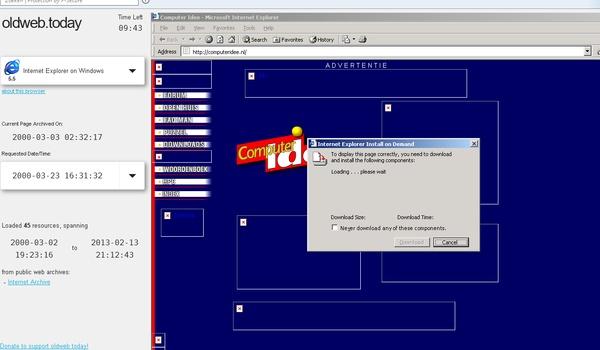 Oldweb.today - Herbeleef het internet van vroeger