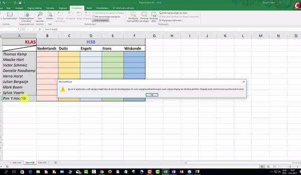Een werkmap in Excel beveiligen