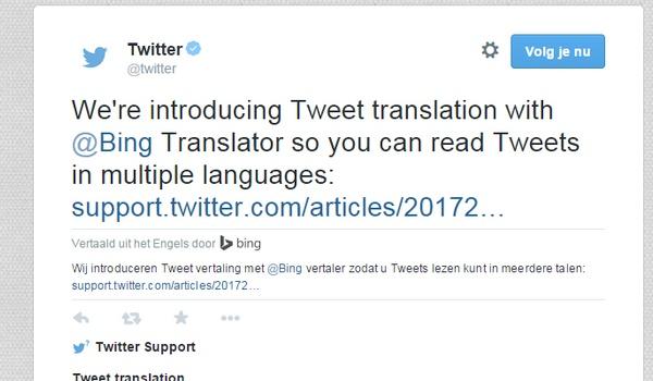 Buitenlandse tweets naar het Nederlands te vertalen