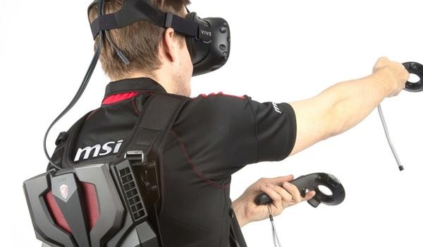 VR staat bij MSI voor Virtual Rugzak